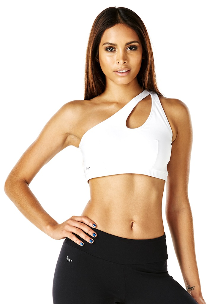 1a06d7236a ONE SHOULDER TOP - WHITE - Svelte Waist Trainers